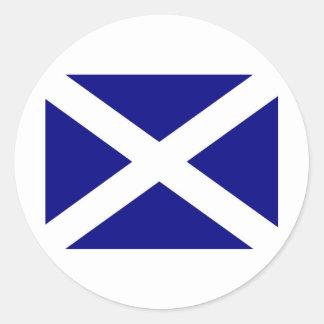 Skotskt bekläda för flagga runt klistermärke