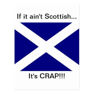 Skotskt bekläda för flagga vykort