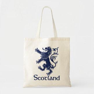 Skotskt våldsamt lejont marinblått tygkasse