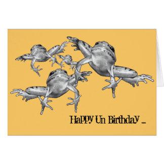 Skottårfödelsedag: Hoppa grodor: Rita teckningen Hälsningskort