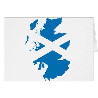 Skottland flaggakarta hälsningskort