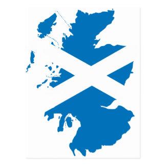 Skottland flaggakarta vykort