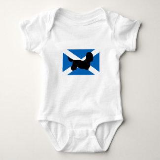 Skottland för dandiedinmontsilhouette flagga t-shirt