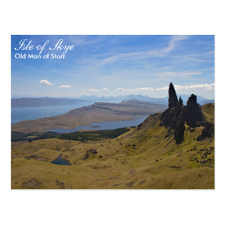 Skottland - gamal man av den Storr vykortet Vykort