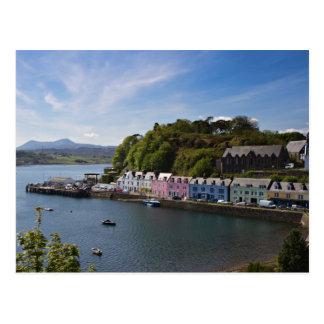 Skottland - hamn av den Portree vykortet Vykort