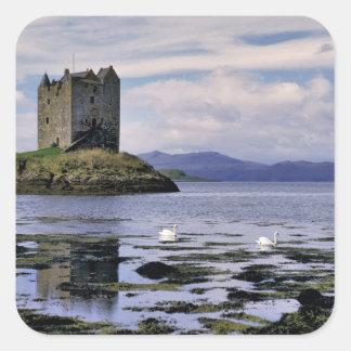 Skottland högland, Wester Ross, Stalker Fyrkantigt Klistermärke