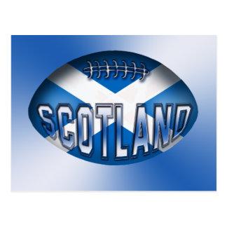Skottland Rugbyboll Vykort