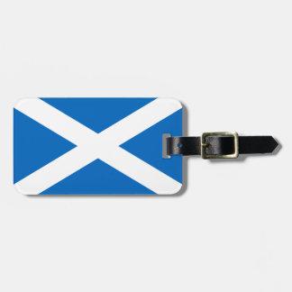 Skottland/skotsk flaggabagagemärkre bagagebricka