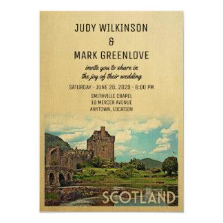 Skottland som gifta sig det inbjudanEilean Donan 12,7 X 17,8 Cm Inbjudningskort
