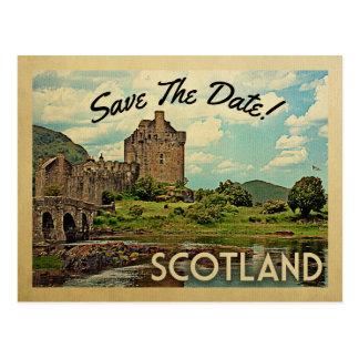 Skottland spara det dateraEilean Donan slottet Vykort