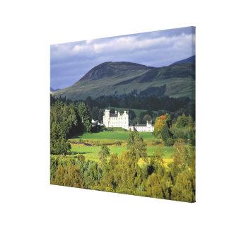 Skottland Tayside, Blair slott. I en smaragd Canvastryck