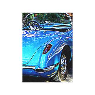 Skräddarsy avbilda av Corvette på kanfas Canvastryck