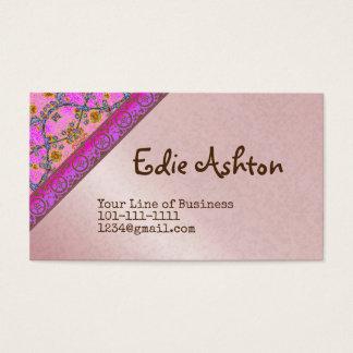 Skräddarsy båda sidor av violeten och blommigten visitkort