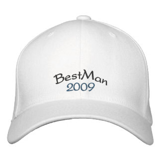 Skräddarsy BestMan hatt - - som skräddarsy Broderad Keps