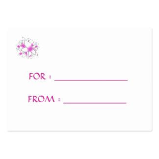 Skräddarsy blommor för gåvamärkrerosor - set av breda visitkort