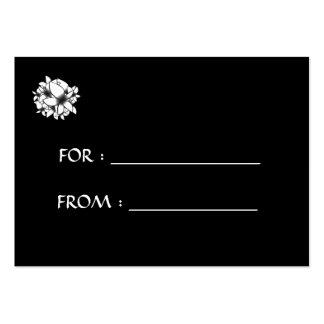 Skräddarsy blommor för gåvamärkrevit - set av breda visitkort