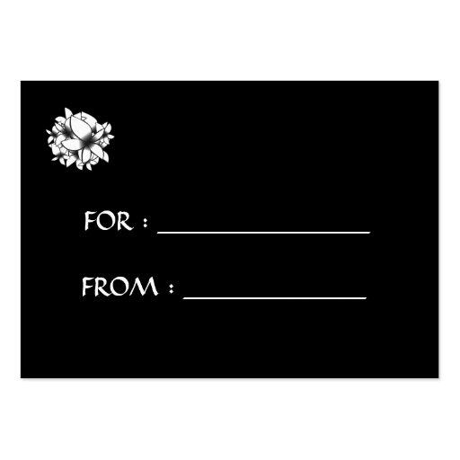Skräddarsy blommor för gåvamärkrevit - visitkort