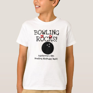 Skräddarsy bowla födelsedagT-tröja Tshirts