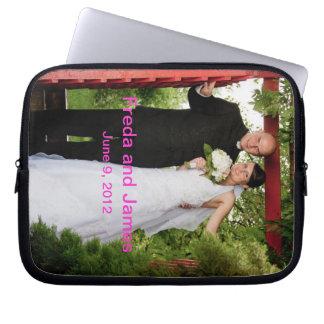 Skräddarsy bröllop datorskydds fodral