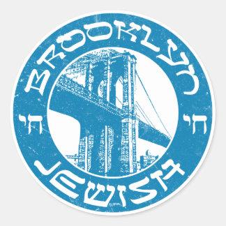 Skräddarsy Brooklyn irländska rundaklistermärkear Runt Klistermärke