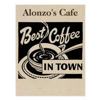 Skräddarsy coffee shop vykort
