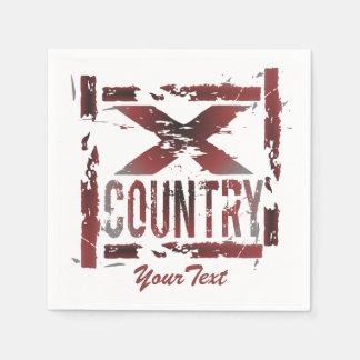 Skräddarsy cross country springer XC Papper Servetter