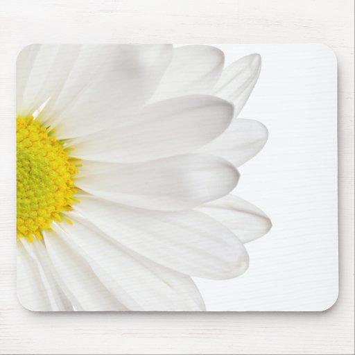 Skräddarsy daisy för vitdaisyblomma bakgrund mus matta