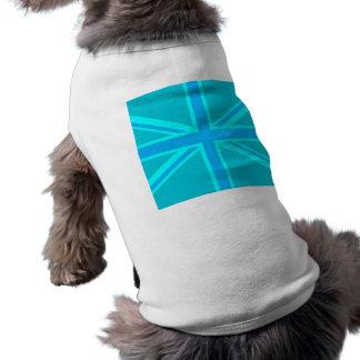 Skräddarsy den fackliga jackflagga för turkos det husdjurströja