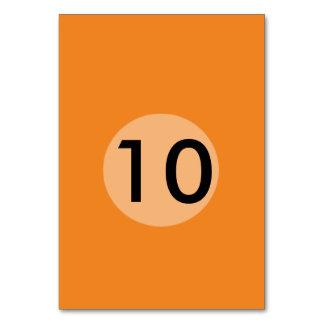 Skräddarsy den orange mallen för tangerinen som bordsnummer