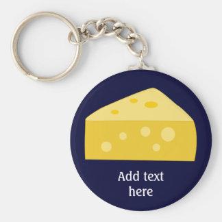 Skräddarsy denna grafiska stora ost rund nyckelring