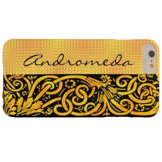 Skräddarsy denna guld- gula krusidull barely there iPhone 6 plus skal