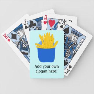 Skräddarsy detta grafisk pommes frites spelkort