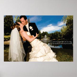 Skräddarsy din egna bröllopaffisch poster
