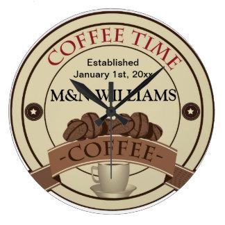 Skräddarsy din kända kaffeTime logotyp Stor Klocka