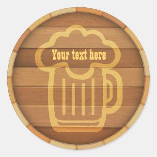 Skräddarsy din öl runt klistermärke