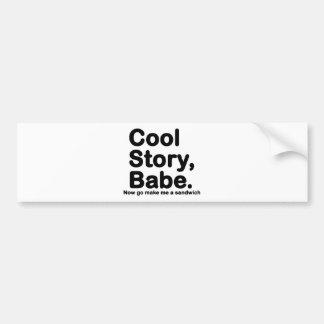 Skräddarsy ditt eget: Kyla berättelsen Bro/Babe Bildekal