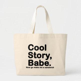 Skräddarsy ditt eget: Kyla berättelsen Bro/Babe Tote Bag