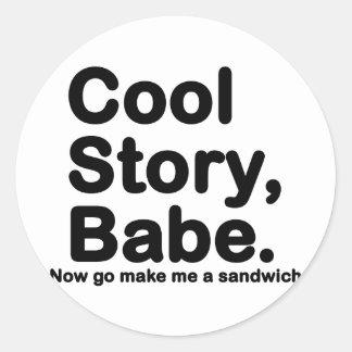 Skräddarsy ditt eget: Kyla berättelsen Bro/Babe Runt Klistermärke