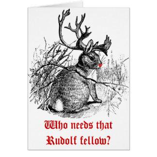 Skräddarsy foto vem behöver den Rudolf kamrat? Hälsningskort
