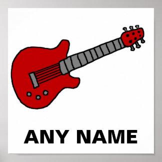 Skräddarsy gitarrskjorta för pojkar eller flickor posters