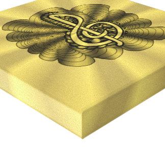 Skräddarsy guld för musikTrebleklav Canvastryck