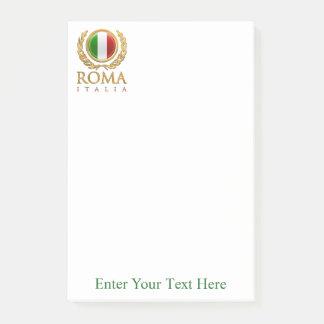 Skräddarsy italiensk flagga post-it block