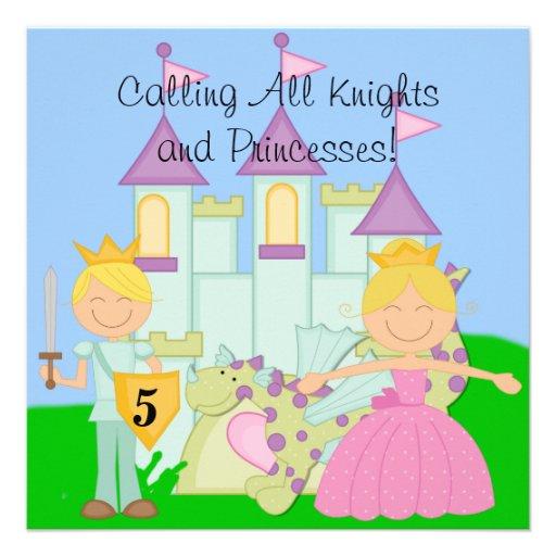 Skräddarsy kungliga födelsedagfirandeinbjudningar personliga inbjudningskort