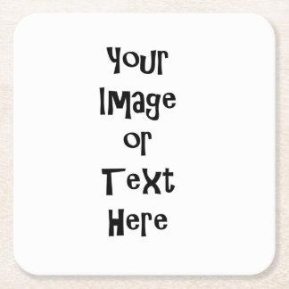 Skräddarsy med personligbilder och text underlägg papper kvadrat