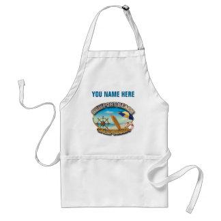 Skräddarsy Newport strand, CA-illustration Förkläde