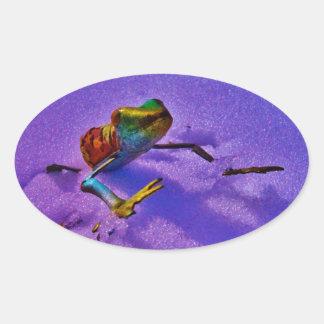 Skräddarsy produkten ovalt klistermärke