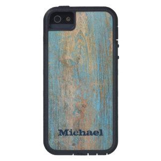 Skräddarsy riden ut blåttskalning målar trä iPhone 5 Case-Mate skydd
