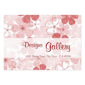 Skräddarsy rosa blommigt för vintage - visitkort mall