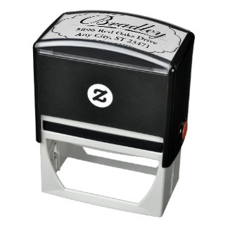 Skräddarsy Rubber frimärke med stort namn Självfärgande Stämpel