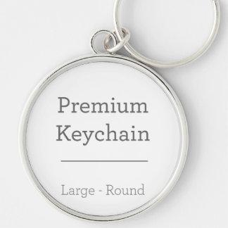 Skräddarsy rundafoto Keychain Rund Silverfärgad Nyckelring